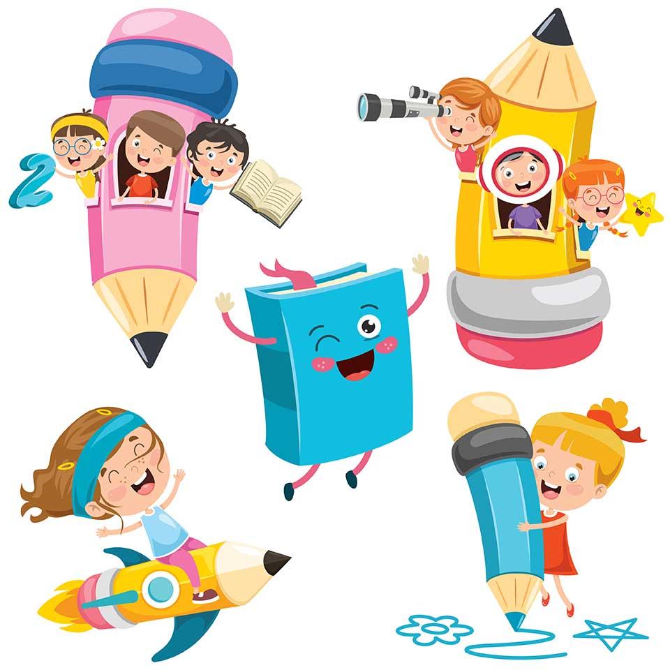 六一儿童节主题教育童趣插画education-enfants-droles插图