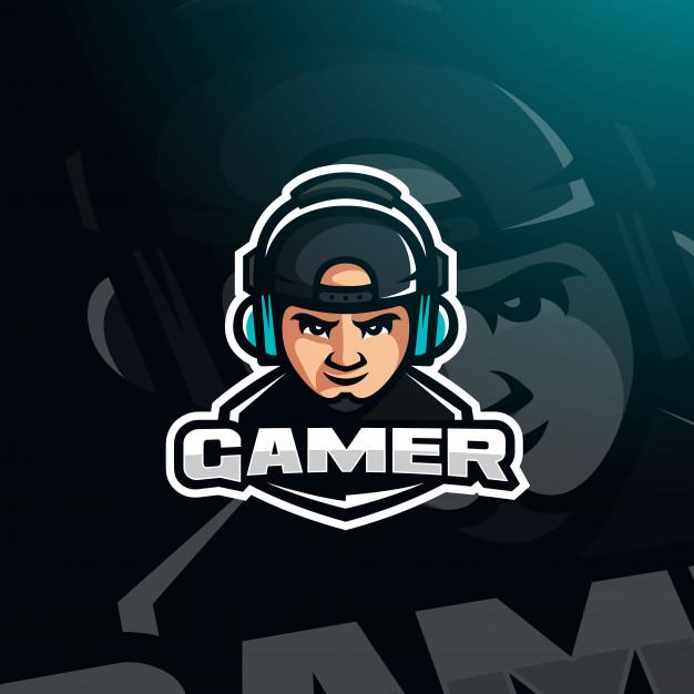 游戏玩家游戏头像与耳机电子竞技徽标gamer-youtuber-gaming-avatar插图